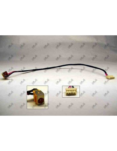 DC Jack 1,65mm con cable  para Acer