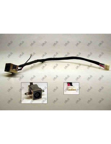 DC Jack 6.5mm x 4.4mm con cable  para LG
