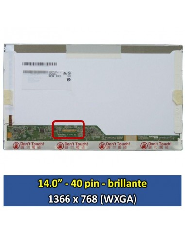 "Pantalla samsung LTN140AT02 C10, (14.0"", Brillante) [14002B]"