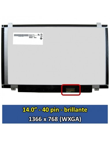 "Pantalla LG Philips LP140WH2 (TL)(S2), (14.0"", Brillante) [14003B]"